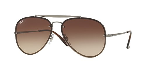Ray-Ban Blaze Aviator Sunglasses, Gunmetal, 58 - Ban Aviator Ray Blaze