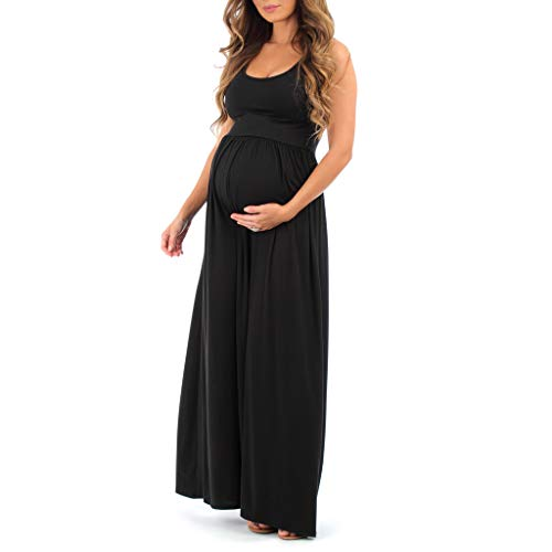 Women's Ruched Sleeveless Maternity Dress in Regular and Plus Sizes - Made in...