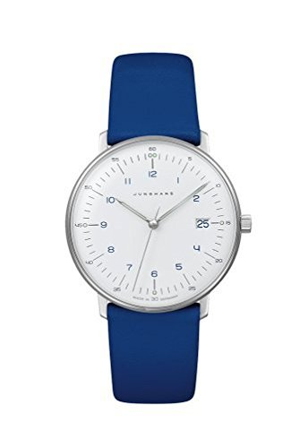 Junghans Max Bill Ladies 047/4540.00 Quartz Matte-White Dial Date Blue