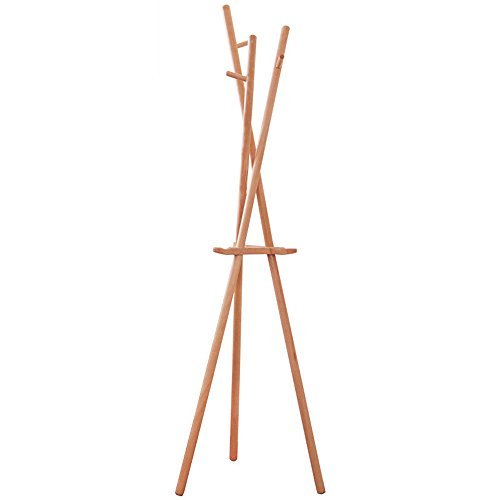 LQQGXLModern minimalist coat rack, Coat rack wood floor racks multi-function hanger by LQQGXL