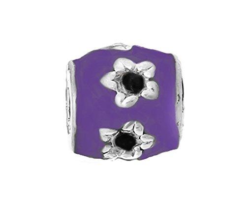 er Enamel Spacer Bead fits Silver European Charm Bracelets Crafting Key Chain Bracelet Necklace Jewelry Accessories Pendants ()