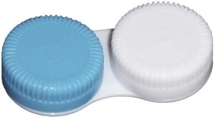 Estuche para lentillas para guardar azul suave contacto lentes-: Amazon.es: Salud y cuidado personal