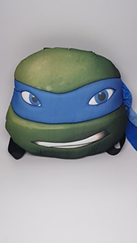 [TMNT Ninja Turtles Turtle Head Plush Doll Backpack Leonardo Blue Costumes Bag by Nickelodeon] (Plush Turtle Kids Costumes)