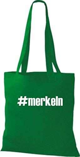 Shirtstown Tissu Pochette Kelly Vert Merkeln Hashtag En R8ryqwOR