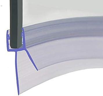HNNHOME® - Tira de sellado para mampara de ducha de goma precurvada de 870 mm, perfecta para puertas de cristal curvadas o rectas de 4-6 mm, hasta 20 mm de espacio: Amazon.es: Hogar