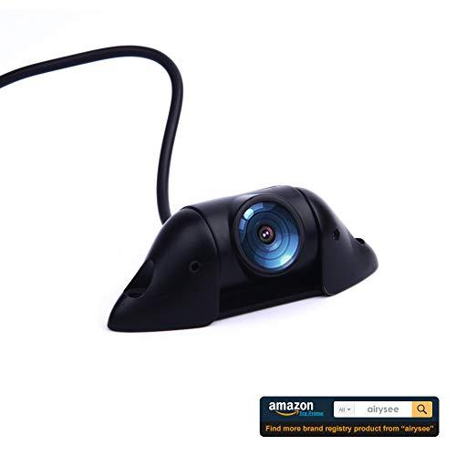 Backup Camera, 600TVL Car Camera Airysee AS205B Mini Style License Plate Backup Camera with Waterproof IP69K, Beyond HD Image Vehicle Parking Rear View Camera Kit for Cars Jeep SUV RV Van MPV Pickup ()