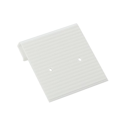 JewelrySupply Hanging Earring Card White Ribbed 1x1 (Package of 100)