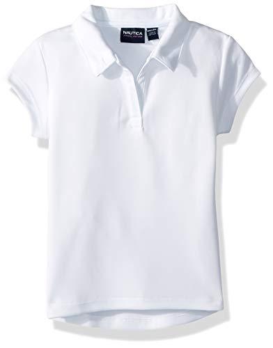 Nautica Girls' Big School Uniform Short Sleeve Performance Polo, White, X-Large(16)]()
