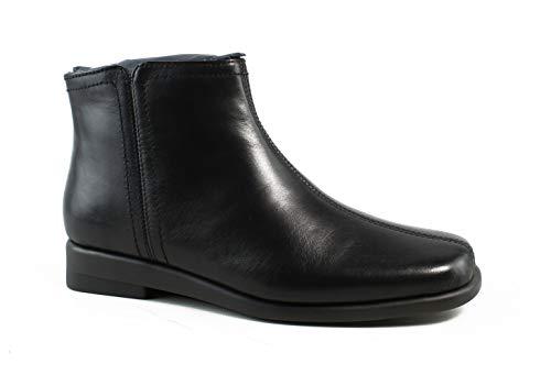 Aerosoles Women's Double Trouble 2 Ankle Bootie, Black Leather, 5 M US