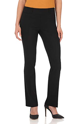 Rekucci Women's Ease in to Comfort Fit Barely Bootcut Stretch Pants (2,Black Diamond)