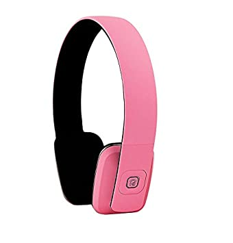 ECHOS Auriculares Audifonos con Bluetooth Wireless Inalambricos Headphones Stereo en ROSADO Pink para Apple iPhone 7
