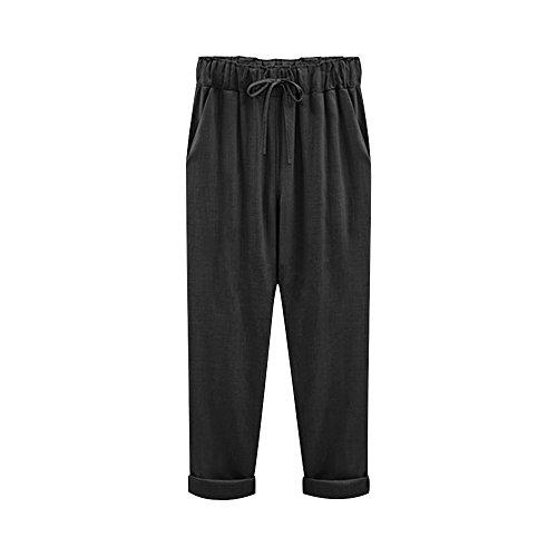 Linen Blend Casual Pants - 8
