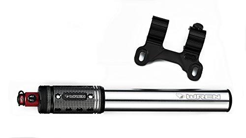 Wren Boost MTB/Fatbike Frame Mount Pump with Patented MiX Valve for Presta or Schrader Valves by Wren