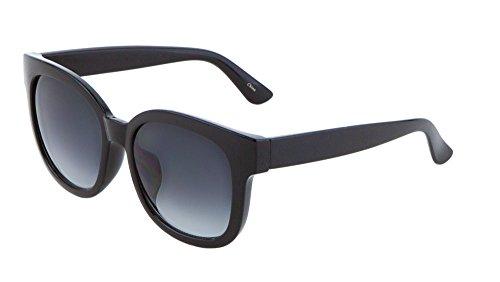 Unisex Retro Horn Rimmed Sunglasses Thick Frame Vintage Fashion (Black, - Glasses Kardashian Kim Sun