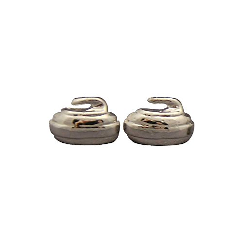 Goldline Curling Curling Rock Stud Earrings: Silver