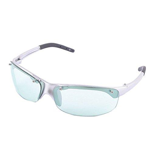 uxcell Plastic Frame Woman Half Rimless Green Rectangle Lens Sunglasses UV Protection - Rectangle Sunglasses Rimless