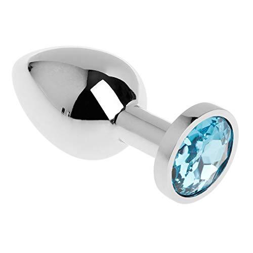 Chaoxiner Amal Plùg - Plato de metal (tamano pequeno) azul claro