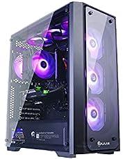 HAJAAN Wind W50 Gaming Desktop Tower PC - AMD Ryzen 5 3600 Hexa-Core Processor up to 4.2GHz, 32GB DDR4 RAM, 512GB SSD + 1TB HDD, GeForce GTX 1650 4G DDR5 Graphics, RGB Fans - WIFI -Windows 10 Home - NEW