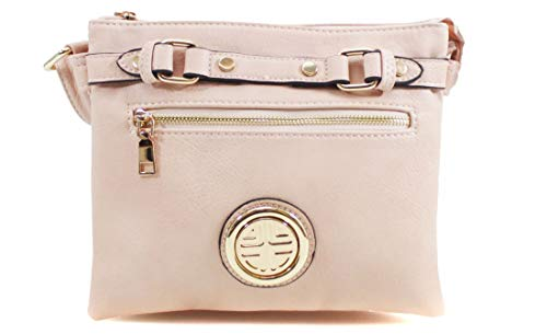 Shoulder Messenger Ladies Pink Bag Body Faux Women Cross Handbag Leather Satchel Tote wqRwrT47