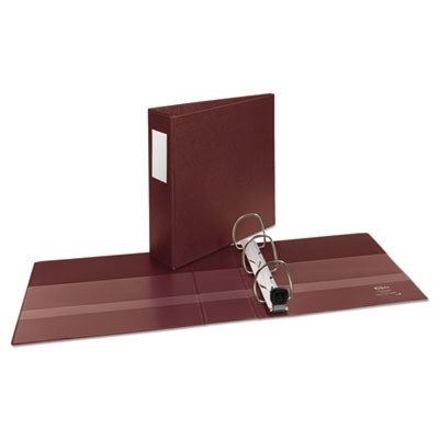 Avery AVE21004 3quot; Heavy-Duty 3-Ring Binder, 1 Touch EZD Rings, Letter Size, Maroon