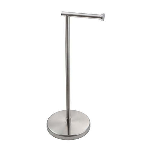 KES SUS304 Stainless Steel Bathroom Lavatory Pedestal Toilet Paper Holder and Dispenser Free Standing Brushed, BPH280S1-2