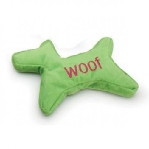 Petmate 291776 Tuff Plush Cookie Cutter Woof Toy for Pets, Large