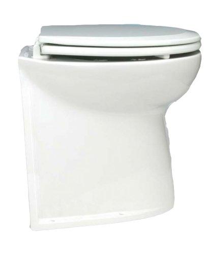 Jabsco Deluxe Flush 17 Elektrotoilette mit geradem Rücken