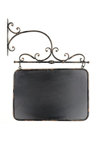 Cast Iron Shopkeeper Wall Mounted Chalkboard Sign - 24-in by Vagabond Vintage