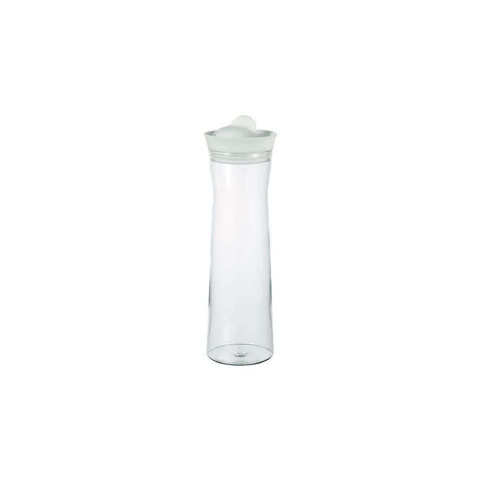 Hario Glass Water Pitcher with Silicone Lid   White, 1000ml, Garden, Lawn, Maintenance