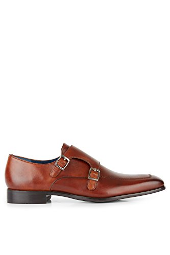 Moss 1851 Men's Alfred Tan Double Monk 9.5 by Moss 1851