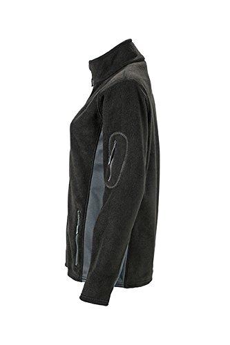 James & Nicholson–Workwear Forro polar Jacket Chaqueta negro/gris oscuro
