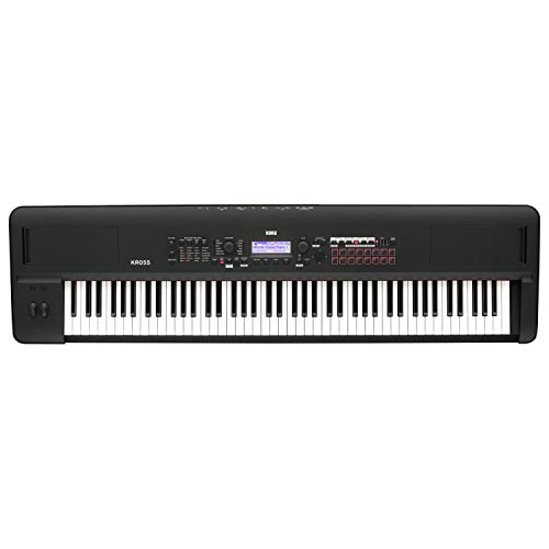 Korg Kross 2-88-MB 88-key Synthesizer Workstation - Super Matte Black
