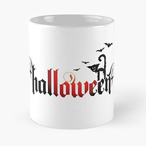 H Halloween Cats Jokes - 11 Oz Coffee Mugs Unique Ceramic Novelty Cup, The Best Gift For Halloween.