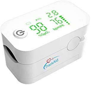 TrackAid Pulse Oximeter Fingertip Oxygen Saturation and Pulse Rate Monitor with Perfusion Index
