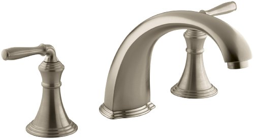 KOHLER K-T398-4-BV Devonshire Deck/Rim-Mount High-Flow Bath Faucet Trim, Vibrant Brushed Bronze