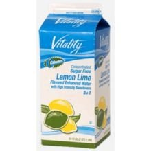 Vitality Lemon Lime Enhanced Water Concentrate, 64 Fluid Ounce -- 6 per case.