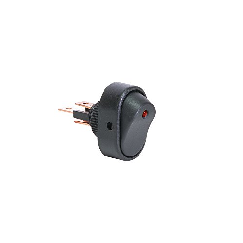 Illuminated Rated Switch Red Rocker (ONLINE LED STORE 12V DC 30A 3-Pin SPST LED On/Off Rocker Switch - RED)