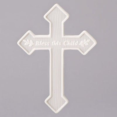 - Bless This Child Sprigs With Arrows Rippled Ivory 5 x 6.5 Porcelain Wall Cross