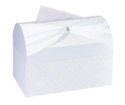 Lillian Rose Vintage White Satin Wedding Reception Card Box