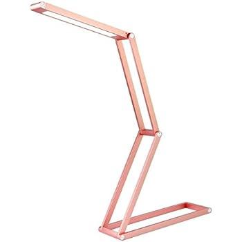 AUSHEN Rose Gold Lamp, Simple Designs Desk Lamp Metal