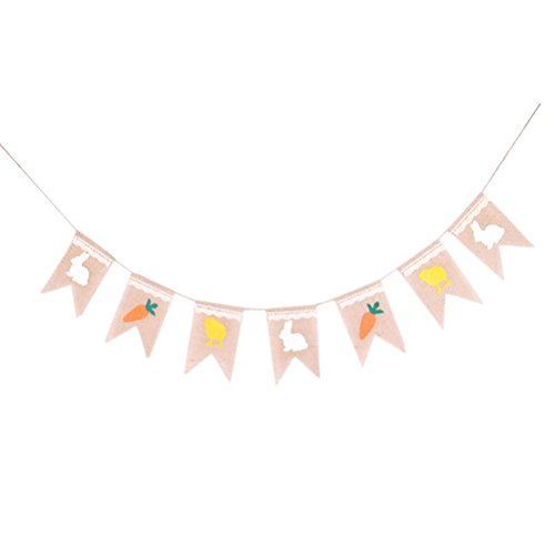 Tinksky Easter Decoration Bunting Birthday