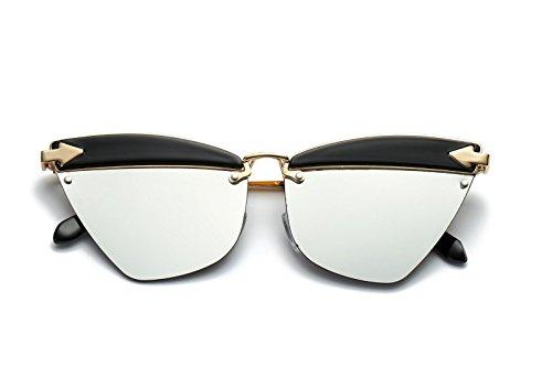 Ojos de Gafas Sol de a Mujer E de los Sol polarizadas la Intellectuality Retro Personalidad Gafas Hombre qSU7pwwOx