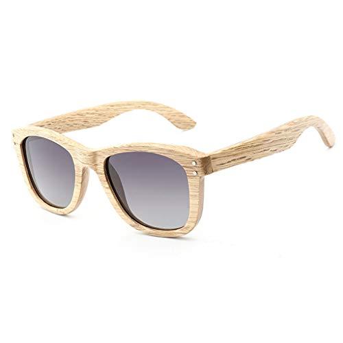 de bambú Cebra Dark de Polarizadas Remache de La Gafas Madera Gafas Color Brown de Gafas Madera sol Frame Madera Madera Gafas del Moda de La Lens Gray Lens Frame Brown Green de La de de Clásico Unisex wfwn4IxF1q