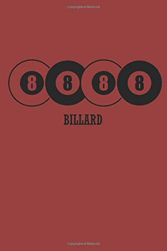 BILLARD: Billard Notizbuch Billiard Notebook Pool Planer Snooker Bullet Journal 6x9 Punkteraster por Pete Sumball