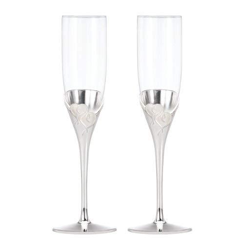 OKSLO True love glass flute pair Model d2981