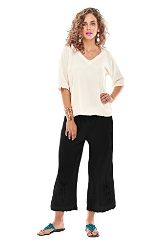 Oh My Gauze Women's Sammy Pant L/XL (12-14) Black