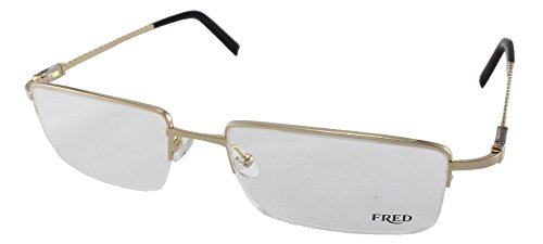 Fred Eyeglasses Frames - Fred Samoa N1 8353 Eyeglasses 002 Gold-Champagne / Palladium 58MM