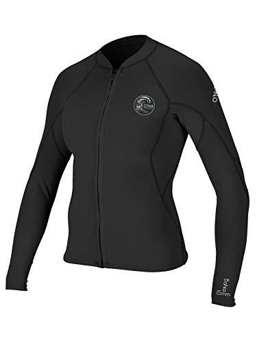 O'Neill Womens Bahia 2/1mm Full Zip Wetsuit Jacket (Black (4838IS), 6)