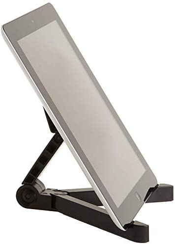 AmazonBasics Adjustable Tablet Holder Stand – Compatible with Apple iPad, Samsung Galaxy and Kindle Fire Tablets