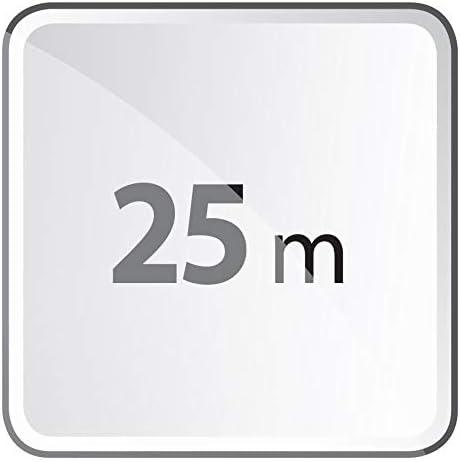 Enrouleur de c/âble Professionnel EMOS avec Centre Fixe c/âble de 25 m 1,5 mm Schuko Le Noyau ne Tourne Pas avec 4 Prises
